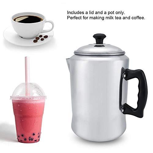 Koffiepercolator, aluminium koffiepot, aluminium koffiepercolator, theeketel, kookplaat met deksel, gepolijste aluminiumlegering en spiegelafwerking voor een klassiek tintje, geen geu