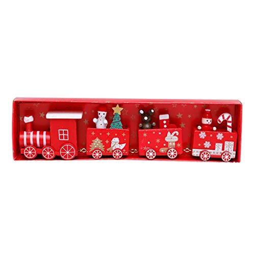 Xiongz Decoraciones navideñas de madera, tren pequeño para niños, jardín de infantes (color: C)
