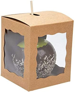 4 x 4 x 4 Candy Apple Box With Hole Top 25 Boxes ClearBags Boxes For Caramel Apples Ornaments product image