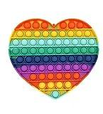 CRAZYCHIC - Pop It Gigante XXL Fidget Toys - Popit Grande Push Bubble Juguetes Niños Barato - Juegos Antiestres Enorme Hijos Adultos - Burbujas Multicolor Arco Iris Regalo Niño Niña - Corazón