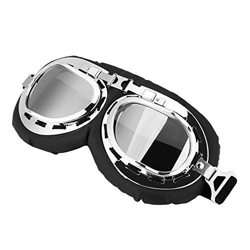 ROSEBEAR Motorfiets Fietsen Winddichte Sportbril, Outdoor Skiën Anti UV Anti-Scratch Stofdichte Beschermende Bril voor Fietsen Klimmen Vissen Grijs, ZILVER