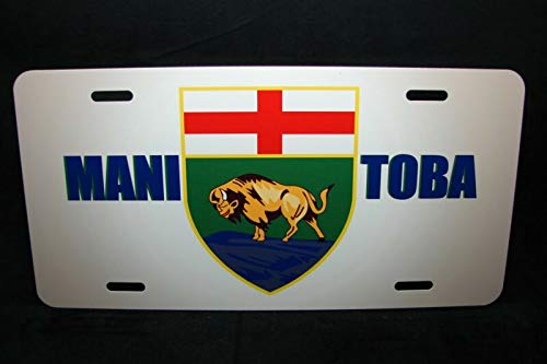 Manitoba Flag Car License Plate Coat Of Arms Auto Car Novelty Accessories License Plate Art
