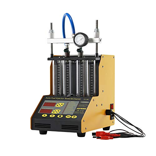Autool CT150 Auto Fuel Injector Cleaner and Tester Machine Kits Ultrasonic Cleaning Injector Test Support for Petrol Motorcycle 4-Cylinder