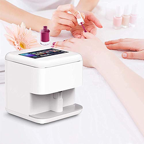 Portable Nail Art Printers Machine Wifi Wireless Easy All-Intelligent 3D Nail Printers Automatic Nail Painting Machine DIY Tool, Best Gifts for Ladies