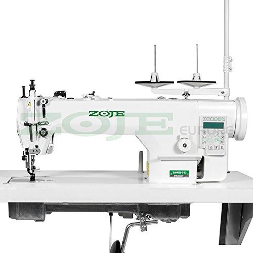 Zoje Industriële naaimachine, leer en bekleding, dubbel transport, met draadsnijder, compleet (met tafel en frame)