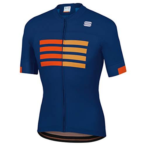 SPORTFUL Maglia Ciclismo Wire Uomo, Blu, S