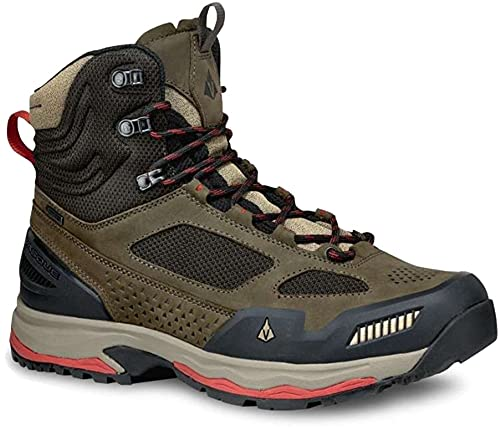 Vasque Men's Breeze at Mid GTX Hiking Boot, Brown Olive, 11.5