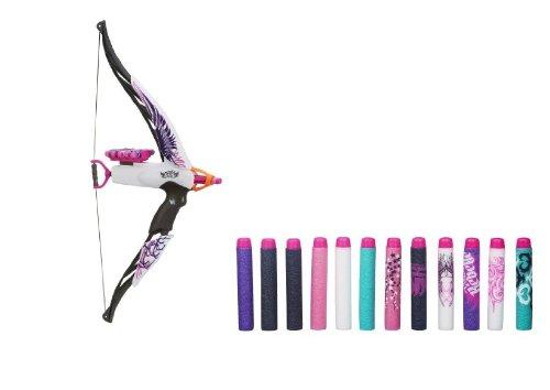 Nerf Rebelle Heartbreaker Bow (Phoenix Design) with Bonus Nerf Rebelle Dart Refill Pack (17 Total Darts)