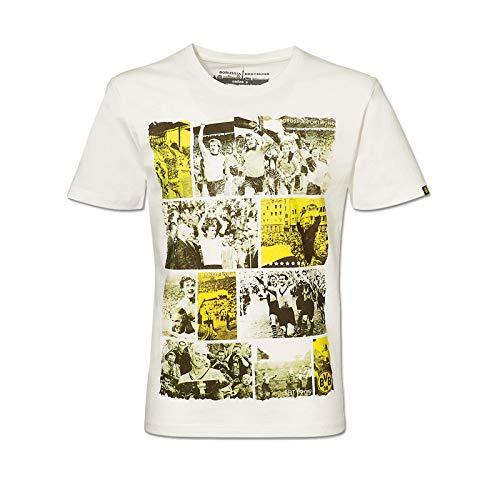 BVB 09 Borussia Dortmund Herren T-Shirt mit Retro-Prints Gr. XXL Shirt Fussballshirt 15211103