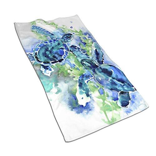 Hdadwy Sea Turtles Toallas de Mano de Playa 27.5 'X15.7' 'Toalla Facial Multiusos Ultra Suave Altamente Absorbente para baño, Hotel, Gimnasio, SPA, Yoga, Cocina, decoración del hogar
