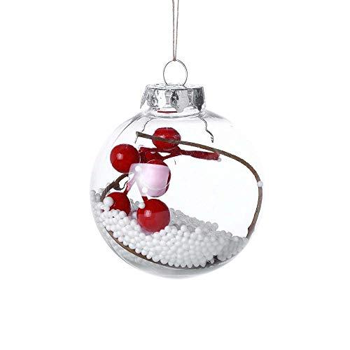 AMhomely - Adorno para árbol de Navidad, decoración para el hogar, decoración navideña, decoración navideña, decoración navideña, decoración de Navidad, 3, 8 cm