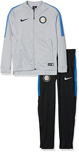 Nike Inter Y NK Dry SQD TRK K, Trainingsanzug Fußball Unisex Kinder XS Wolf Grey/Nero/Royal Blue/Nero