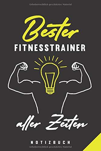 Bester Fitnesstrainer Aller Zeiten Notizbuch: 120 Seiten Punkteraster Dotted Notizheft für die Arbeit Oder Studium Ausbildung (6x9) Ca. A5 Format Softcover Schwarz