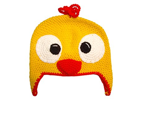 snuggleheads Unisex Baby Chicken Knit Hat 0-3 Month Mustard Yellow