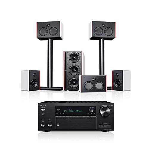 Teufel System 4 THX AVR 5.1-Set Weiß/Schwarz Heimkino Lautsprecher 5.1 Soundanlage Kino Raumklang Surround Subwoofer Movie High-End HiFi Speaker