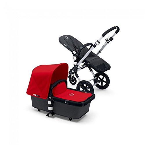 New Bugaboo Cameleon 3 Dark Grey Base WITH Fabric (Red Fabric)