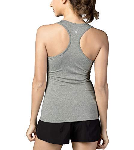 LAPASA Débardeur de Sport Top Yoga Femme T-Shirt sans Manches Sport Dos Nageur Séchage Rapide - Yoga Gym Musculation L06, Rose Multi-teintes, XL