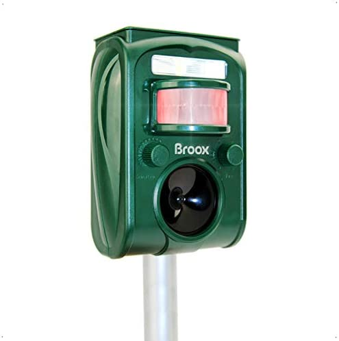 Upgraded 2021 New Model Broox Solar Animal Repeller Ultrasonic Animal Repellent Motion Detector product image
