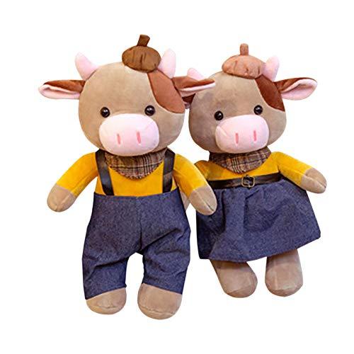 Hunpta @ 30cm Plüschtiere Karikatur Paar Kuh Dekokissen Weich Plüsch Spielzeug Kuscheltier Puppe Festival Geburtstag Weihnachten für Junge Mädchen