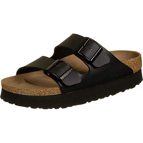 Birkenstock Arizona Papillio Black Vegan Platform Sandals 40 EU Nero