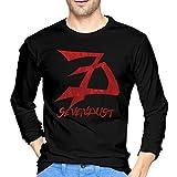 RISONRIFFIN Sevendust Mens Cotton Long Sleeve T-Shirts Design Popular Basic Shirts Black S