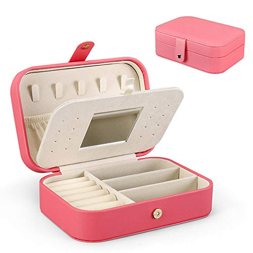 MKLH Portable Jewelry Gift Box, Travel Jewelry Storage Case, Bracelet Jewelry Earrings Jewellery Box