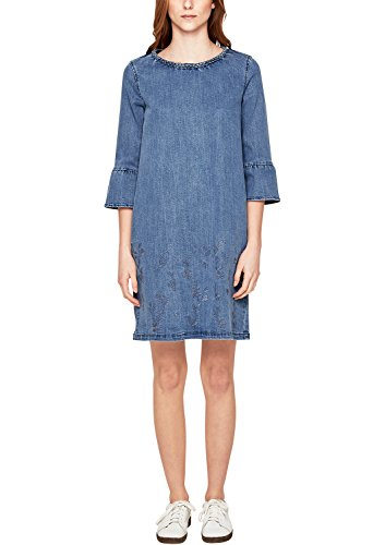 s.Oliver Damen 14.802.82.7840 Kleid, Blau (Blue Denim Non Stretch 52y3), 36