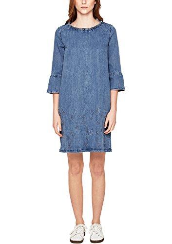 s.Oliver Damen 14.802.82.7840 Kleid, Blau (Blue Denim Non Stretch 52y3), 38