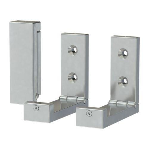 IKEA BJÄRNUM Haken aus Aluminium; klappbar; (8cm); 3 Stück
