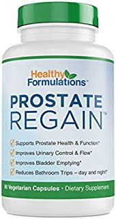 Prostate Regain Beta Sitosterol, Saw Palmetto, Flower Pollen Natural Prostate Supplement for prostate health and improved urine flow (1 Month Supply)