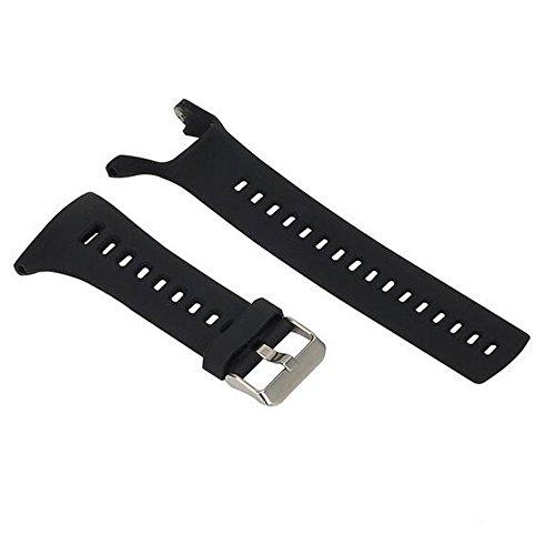 Armband für SUUNTO Ambit1 Ambit2 Ambit3 Watch, Silikon Handgelenk Uhrenarmbänder Fitness Sport Ersatz Uhrband Wechselarmbänder für SUUNTO Ambit 1 Ambit 2 Ambit 3 Smartwatch (Schwarz)