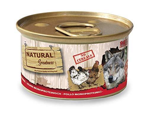 Natural Greatness Comida Húmeda para Perros Receta Monoproteica de Pollo. Pack de 12 Unidades. 170 gr Cada Lata
