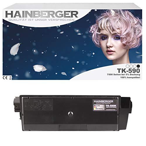 Hainberger Toner für Kyocera TK590 Black für ECOSYS M6526cdn / FS-C5250DN / ECOSYS P6026cdn / FS-C2126MFP / ECOSYS M6026cdn / FS-C2026MFP / FS-C2626MFP / ECOSYS M6526cidn / FS-C2526MFP / ECOSYS M6026cidn