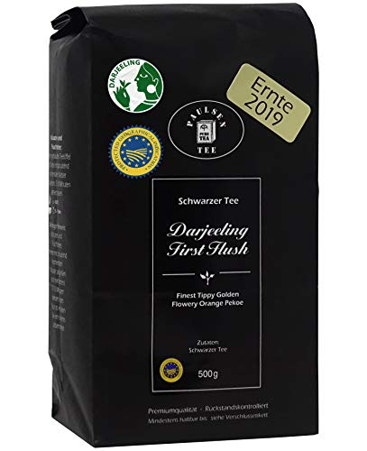 Darjeeling First Flush Ernte 2019 500g (33,90 Euro / kg) Paulsen Tee Schwarzer Tee rückstandskontrolliert & zertifiziert