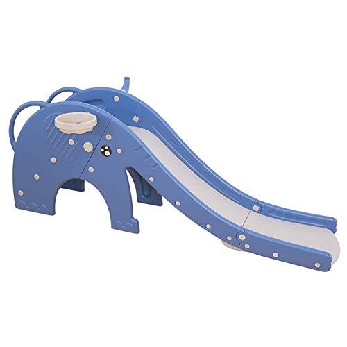 YQZ Faltbare Rutsche für Kleinkinder, Rutschen für Kinder und Kletterer Indoor-Kinder Spielen Rutsche Einfache Montage mit vollständig geschlossenem Pedal Eingebaute Induktionsmusik