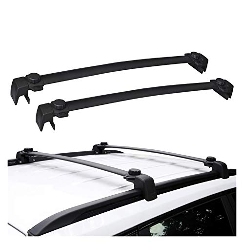 XIAOZHIWEN Coche Techo Rack Cross Bar Techo Rack Cross Barras Equipaje Carrier de Carga Carriles para Jeep Compass 2017-2020