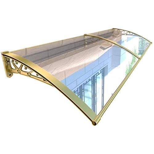 QYQPB Vordach for Haustür, Vordach Haustür, Überdachung Haustürvordach, Türvordach Pultbogenvordach, Polycarbonat, Transparent, Sonnenschutz Regenschutz for Draußen (Size : 160 * 60cm)