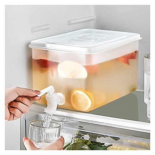Hervidor frío con Grifo, Barril de Agua portátil de Gran Capacidad de 5L, Jarra de Agua para el hogar, Tetera para Frutas, Cubo de limón, Recipiente para Jugo