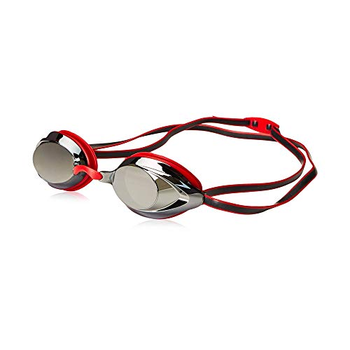 Speedo Vanquisher 2.0 Mirrored Swim Goggles, Panoramic, Anti-Glare, Anti-Fog with UV Protection