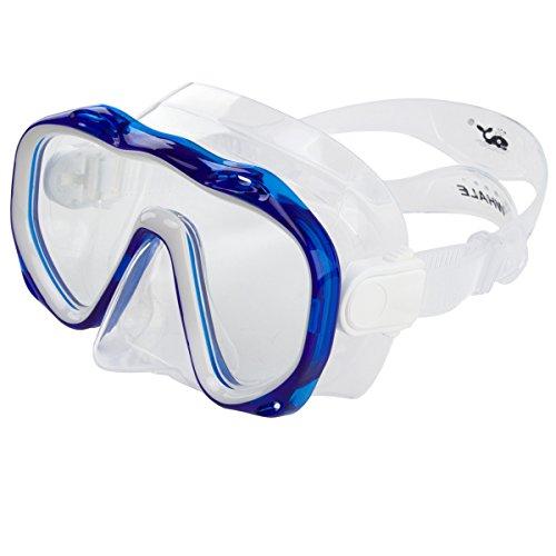 Máscara antiniebla para buceo, impermeable, rápida y ajustable, máscaras de esnórquel para hombres y mujeres