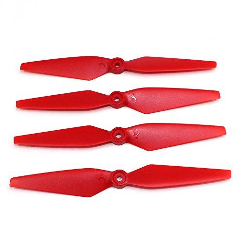 ETbotu 4 stuks propeller accessoires voor MJX BOGUES B2W B2C RC Quadrocopter drone vier assen vliegtuig speelgoed Rood