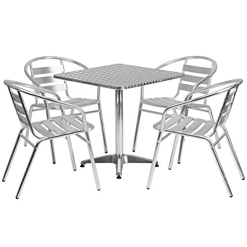 Flash Furniture 27.5'' Square Aluminum Table Set Now $194.99 (Was $329.00)