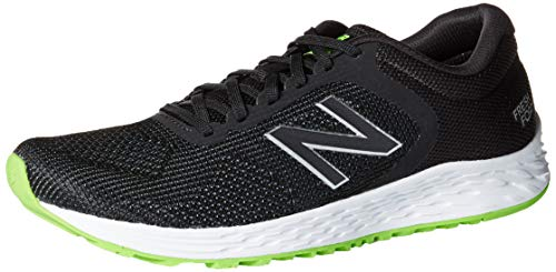 new balance Men's Arishi V2 Fresh Foam Running Shoe, Black/RGB Green, 11.5 D US
