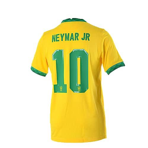 ネイマール サッカーユニフォーム ブラジル代表 ホーム 背番号10 レプリカサッカーユニフォーム 子供用 ジュニア BRUGGE オリジナルセット商品 (ホーム, XL)