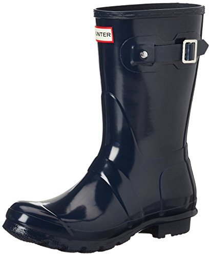 Hunter Women's Original Short Gloss Navy Rain Boots - 9 B(M) US