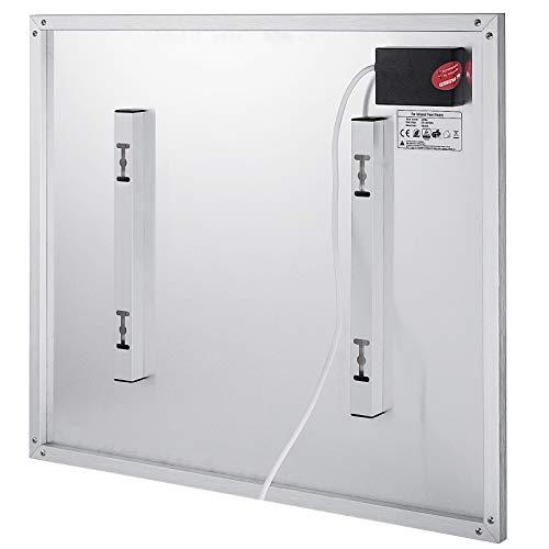 Ukiki Panneau de Chauffage Electrique Thermostat de Chauffage par Panneau à Infrarouge Chauffage Electrique par Rayonnement avec Télécommande (450W)