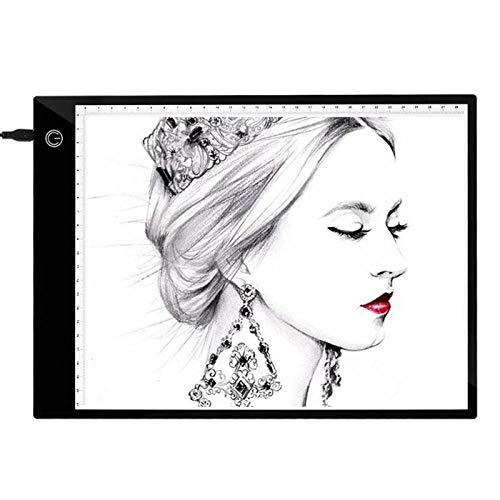 Mesa De Luz De Dibujo Tableta Gráfica Digital A4 Con Calibración Led Artista Thin Art Stencil Tablero De Dibujo Caja De Luz Rastreo Escritura Tableta Pad