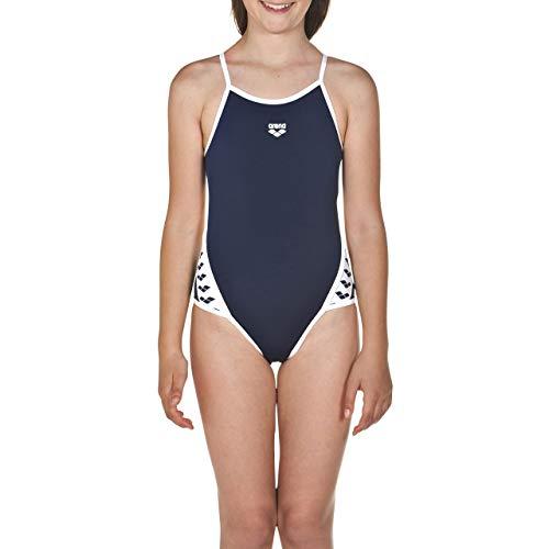 ARES5 arena Mädchen Sport Badeanzug Team Stripe navy-White, 152