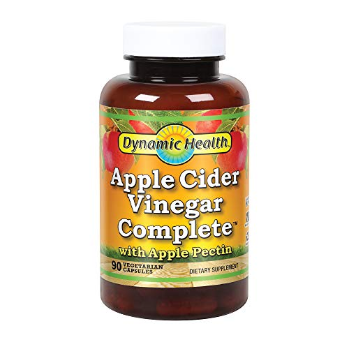 Dynamic Health Apple Cider Vinegar Complete Vegetarian Capsules - Pack of 90 Capsules