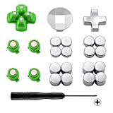 eXtremeRate Magnetic Metal Bullet Buttons, Adjustable D-pad Dpads, Repair Kit Replacement Parts for Playstation 4, PS4 Slim,PS4 Pro Controllers (23 in 1)